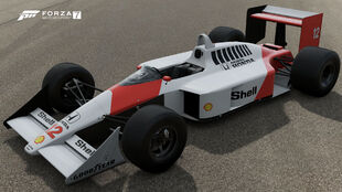 The 1988 McLaren #12 Honda McLaren MP4/4 in Forza Motorsport 7