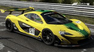 The 2015 McLaren P1 GTR in Forza Motorsport 7