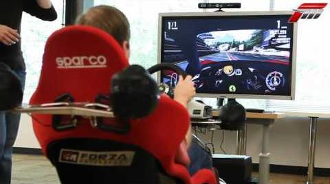 Forza 4 Kinect head tracking footage