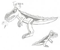Tyraqua (Tyranno) drawing
