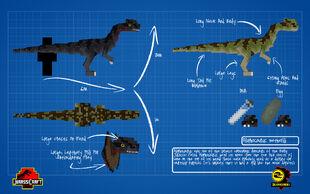 Jurassicraft blueprint dilophosaurus by jurassicraft-d8picuz