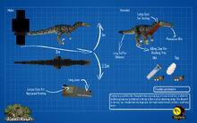 Jurassicraft blueprint troodon by jurassicraft-d8v1sfg