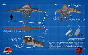 Jurassicraft blueprint spinosaurus by jurassicraft-d8rs20x
