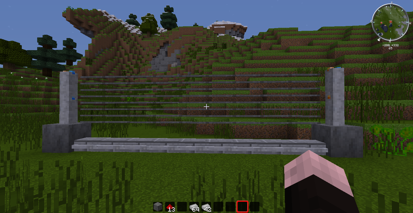 Minecraft fence Wood Security Fences Fandom Security Fences Fossils And Archaeology Mod Jurassic Park Edition
