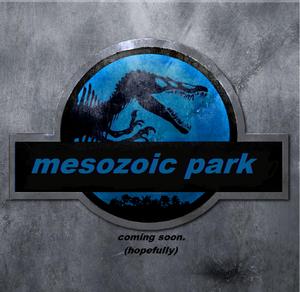 Mesozoic park poster