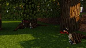 Ornitholestes Resting