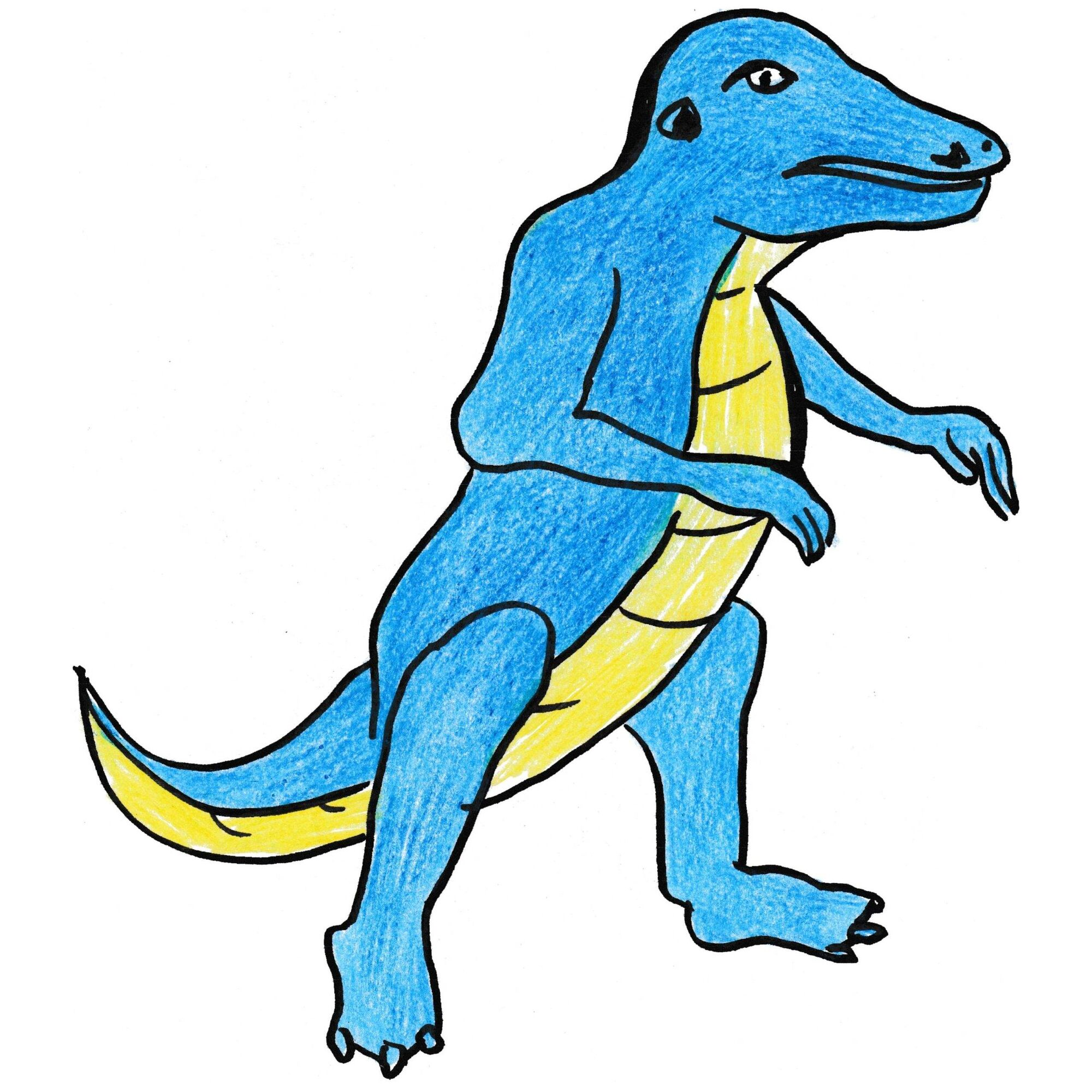 Image - Allosaurus-coloring-pages-example.jpg | Fossils and ...