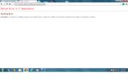 Server runtime error