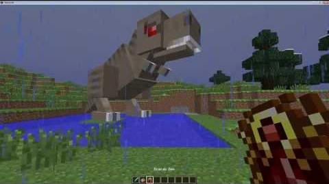 Minecraft Fossil Archeology Mod Tutorial - Taming the T-Rex in 1.5.2 - IT WORKS!