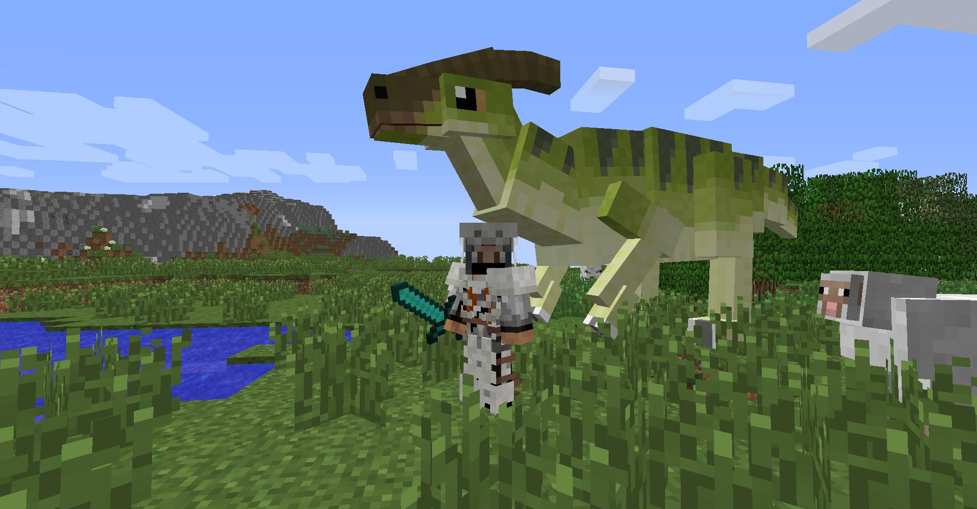 Мод на динозавров в майнкрафт 1.7.10