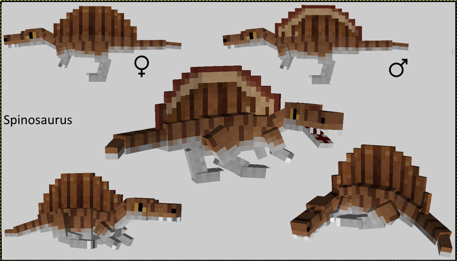 how to make dinosaurs on minecraft