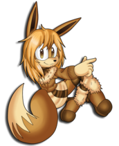 A wild eevee appeared by bubbleslou-d6xvxrl