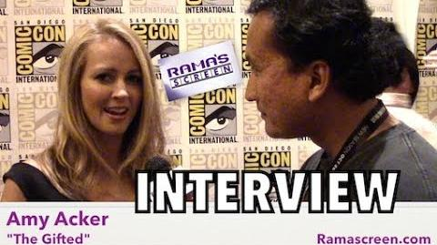 My SDCC 2017 Interview with 'THE GIFTED' Star, Amy Acker!