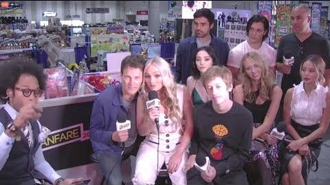 The Gifted Cast FOX Informal Panel SDCC 2017