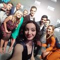 Upfronts 2017 Amy Acker, Stephen Moyer, Blair Redford, Sean Teale, Emma Dumont, Jamie Chung, Coby Bell, Natalie Alyn Lind, and Percy Hynes White.jpg