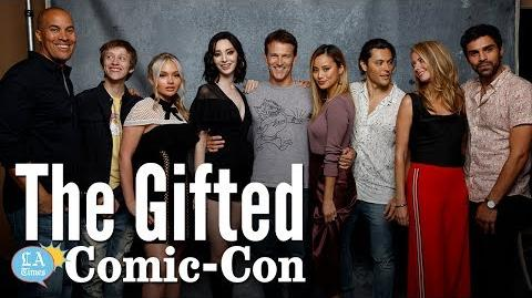 "Cast of ""The Gifted"" at Comic Con Los Angeles Times"