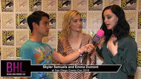 Skyler Samuels and Emma Dumont (The Gifted) San Diego Comic-Con 2018