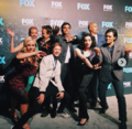 Upfronts 2017 Blair Redford, Amy Acker, Stephen Moyer, Emma Dumont, Sean Teale, Coby Bell, Percy Hynes White, and Natalie Alyn Lind.png
