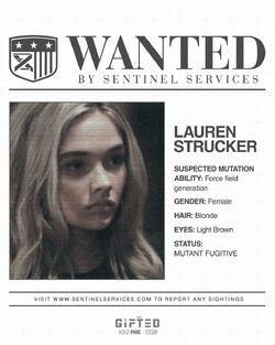 Wanted Poster Lauren Strucker