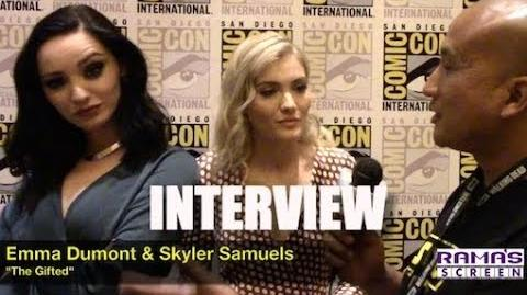 My Interview with Emma Dumont and Skyler Samuels about 'THE GIFTED' Season 2 and Disneyland