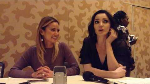 The Gifted - Jamie Chung & Emma Dumont Interview - SDCC 2017