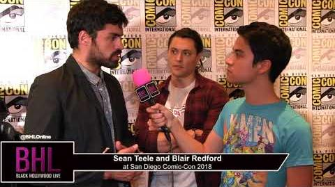Sean Teele and Blair Redford (The Gifted) San Diego Comic-Con 2018
