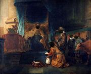 740px-Gerbrand van den Eeckhout - Anna toont haar zoon Samuël aan de priester Eli