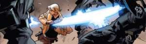 Luke fights in the arena