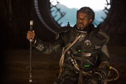 Saw Gerrera with cane