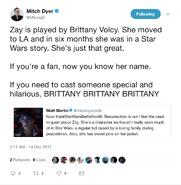 Mitch Dyer Brittany Volcy tweet