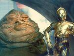 C-3PO et Jabba