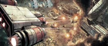 Assaut sur un avant poste Impérial