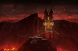 Black Sun fortress Mustafar