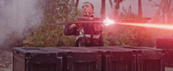 Chirrut Îmwe fires his light bow