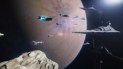Corvus arrives at Jakku