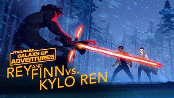 Rey and Finn vs. Kylo Ren