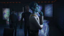 Thrawn studying the Lothal rebels
