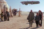 Croiseur Gozanti sur Tatooine