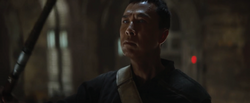 Chirrut Îmwe in Saw Gerreras hide out