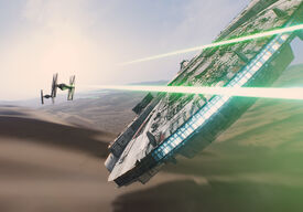 Faucon Millenium et Chasseur TIE Teaser Star Wars 7