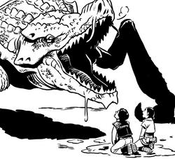 Milo et Lina devant le puant