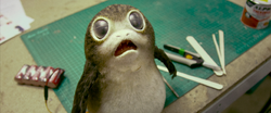 Porg D23 behind the scenes