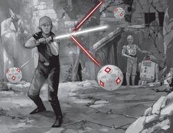Luke Skywalker s'entraîne sur Dévaron