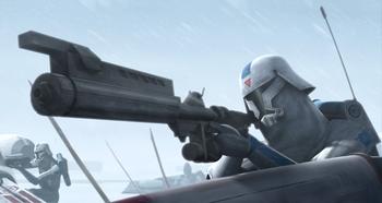 Soldat clone d'assaut en milieu polaire