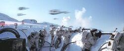 Soldats rebelles combattant pendant la bataille de Hoth