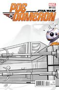 Star Wars Poe Dameron 1 Jaxxon Sketch Variant