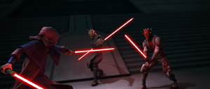 Sidious vs Maul & Savage