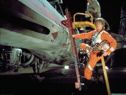 Luke Skywalker et son X-Wing