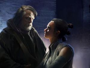 Luke et Rey