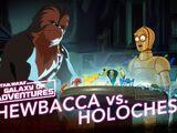 Chewie vs Holo-échecs, laisse le Wookiee gagner